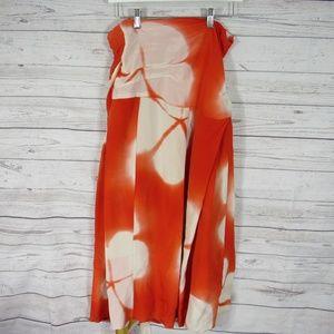 Dries van Noten Skirt Wrap Womens Size 38 Orange